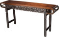 Asian:Chinese, A Chinese Carved Rosewood Altar Table, Qing Dynasty, 19th century.42 h x 88 w x 19 d inches (106.7 x 223.5 x 48.3 cm). PR...
