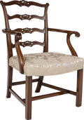 Furniture , A Suite of Ten George III-Style Mahogany Upholstered Dining Chairs, 19th century. 38 h x 24 w x 22 d inches (96.5 x 61.0 x 5... (Total: 10 Items)