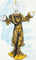 "Animation Art:Production Drawing, Beauty and the Beast - The Broadway Musical ""Lumière""Costume Design Original Art (Walt Disney, 1994). ..."