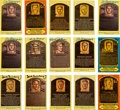 Baseball Collectibles:Others, 1980's-90's Baseball Hall of Fame Yellow Postcards Lot of 170. ...