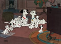 "Animation Art:Limited Edition Cel, 101 Dalmatians ""Watching Television"" Limited Edition Cel#379/500 (Walt Disney, 1991). ..."