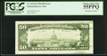 Error Notes:Ink Smears, Ink Smear Error Fr. 2124-B $50 1990 Federal Reserve Note. PCGSChoice About New 55PPQ.. ...