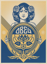 Shepard Fairey (b. 1970) Obey Holiday, 2016 Screenprint in colors 24 x 18 inches (61.0 x 45.7 cm)