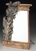 Decorative Arts, Continental:Other , An Egyptian Revival Patinated Bronze and Spelter Easelback Mirror,circa 1880. 16-3/4 inches high x 11-1/2 inches wide (42.5...