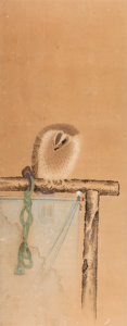 Works on Paper, Japanese School (18th Century). Birds (two works). Ink and watercolor on paper, each. 52-1/4 x 19-1/2 inches (132.7 x 49... (Total: 2 Items)