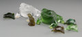 Art Glass:Lalique, Seven Lalique Clear, Colored, and Frosted Glass Toad & FrogFigures, post-1945. Marks: Lalique, France. 3 inches high(7... (Total: 7 Items)