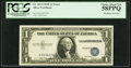 Error Notes:Shifted Third Printing, Shifted Third Printing Error Fr. 1614 $1 1935E Silver Certificate. PCGS Choice About New 58PPQ.. ...