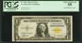 Error Notes:Ink Smears, Ink Smear on Face Error Fr. 2306 $1 1935A North Africa SilverCertificate. PCGS Choice About New 55.. ...