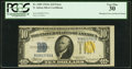 Error Notes:Miscellaneous Errors, Misaligned Face and Back Printing Error Fr. 2309 $10 1934A North Africa Silver Certificate. PCGS Very Fine 30.. ...