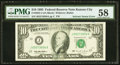 Error Notes:Ink Smears, Solvent Smear Error Fr. 2032-J $10 1995 Federal Reserve Note. PMGChoice About Unc 58.. ...