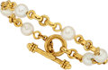 Estate Jewelry:Bracelets, Cultured Pearl, Gold Bracelet, Elizabeth Locke. ...