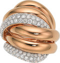 Estate Jewelry:Rings, Diamond, Rose Gold Ring. ...