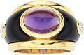 Estate Jewelry:Rings, Amethyst, Diamond, Black Onyx, Gold Ring. ...
