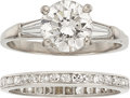 Estate Jewelry:Rings, Diamond, Platinum Ring Set. ... (Total: 2 Items)