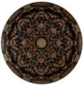 Asian:Chinese, A Chinese Lacquered Wood Tabletop Roundel. 36 inches diameter (91.4cm). ...