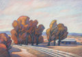 Works on Paper, Howard Post (American, b. 1948). Los Alamos. Pastel on paper. 11 x 16 inches (27.9 x 40.6 cm) (sight). Signed lower left...