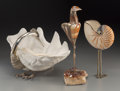 Decorative Arts, French, Three Roberto Estevez for Cartier Mixed Media Avian Sculptures,circa 1976. Marks: ESTEVEZ. 13-7/8 inches high (35.2 cm)...(Total: 3 Items)