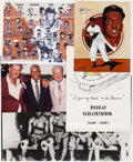 Autographs:Photos, Monte Irvin Oversized Photograph & Poster Collection (8) - Including One Signed Photo. ...