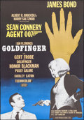 "Movie Posters:James Bond, Goldfinger (United Artists, R-1967). Swedish One Sheet (27.5"" X 39""). James Bond.. ..."
