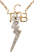 "Music Memorabilia:Memorabilia, Elvis Presley Gold and Diamond ""TCB"" Necklace (Circa 1970s)...."