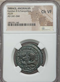 Ancients:Roman Provincial , Ancients: THRACE. Anchialus. Gordian III & Tranquillina (AD241-244). AE 29 mm. NGC Choice VF....