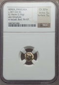 Ancients:Greek, Ancients: IONIA. Phocaea. Ca. 387-326 BC. EL sixth stater or hecte(2.56 gr). NGC Choice XF ★ 5/5 - 5/5. ...