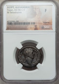 Ancients:Roman Provincial , Ancients: EGYPT. Alexandria. Trajan (AD 98-117). BI tetradrachm.NGC Fine....