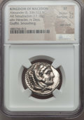 Ancients:Greek, Ancients: MACEDONIAN KINGDOM. Alexander III the Great (336-323 BC).AR tetradrachm (17.16 gm). NGC XF 5/5 - 2/5, test mark, graffiti,sm...