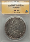 German States:Nurnberg, German States: Nurnberg. Free City Taler 1759-MF VF25 Details (Cleaned) ANACS,...