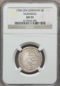 German States:Nurnberg, German States: Nurnberg. Free City Certified 6 & 8 Kreuzer Coins 1704,... (Total: 2 coins)