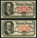 Fractional Currency:Fifth Issue, Fr. 1381 50¢ Fifth Issue Two Examples Very Fine-Extremely Fine orBetter.. ... (Total: 2 notes)