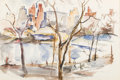 Works on Paper, William Meyerowitz (American, 1887-1981). Central Park, circa 1930. Watercolor on paper. 14-1/4 x 21-5/8 inches (36.2 x ...