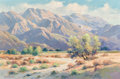 Fine Art - Painting, American:Modern  (1900 1949)  , Walter Farrington Moses (American, 1874-1947). Palm Springs,California. Oil on canvas. 20 x 30 inches (50.8 x 76.2 cm)...