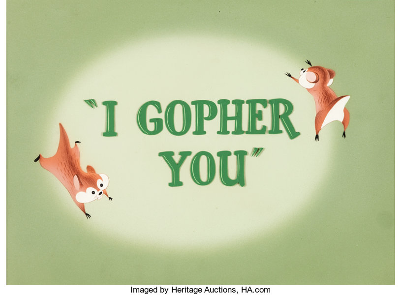 I Gopher You Goofy Gophers Title Cel Warner Brothers 1954 Lot 96109 Heritage Auctions