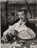 "Movie/TV Memorabilia:Autographs and Signed Items, A Clark Gable Signed Black and White Photograph from ""Gone With TheWind.""..."