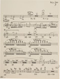 Music Memorabilia:Autographs and Signed Items, Frank Zappa Handwritten Musical Manuscript (1970s). . ...