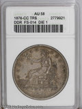 Trade Dollars: , 1876-CC $1 Doubled Die Reverse AU58 ANACS. FS-014, Breen-5805. Type One Obverse and Reverse, ...