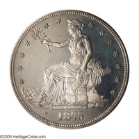 1875 T$1 PR64 Cameo PCGS. Type Two Reverse. Another scarce Cameo proof for the collector, and this sale has a splendid d...