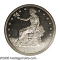 Proof Trade Dollars: , 1876 T$1 PR64 Cameo PCGS. Type Two Obverse and Reverse. This is the most elusive of the die combinations for the proofs, an...