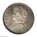 Patterns: , 1838 P50C Half Dollar, Judd-73 Restrike, Pollock-77, R.5, PR66 NGC.A draped bust of Liberty faces left and wears a diadem....