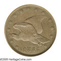 Patterns: , 1855 P1C Flying Eagle Cent, Judd-167, Pollock-193, R.5, PR64 BrownNGC. A Flying Eagle cent pattern in large format, featur...