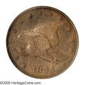 Patterns: , 1855 P1C Flying Eagle Cent, Judd-168 Original, Pollock-193, R.4,PR65 Brown NGC. A sharply struck example of this popular b...