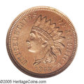 Patterns: , 1858 P1C Indian Cent, Judd-208, Pollock-258, R.6, MS61 ANACS. Indian Cent pattern with the adopted design of 1859, but date...