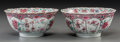 Asian:China Trade, A Pair of Chinese Export Famille Rose Porcelain Bowls, QingDynasty. 2-3/4 inches high x 5-7/8 inches diameter (7.0 x 14.9 c...(Total: 2 Items)