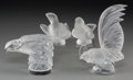 Art Glass:Lalique, Four Lalique Clear and Frosted Glass Avian Mascots and Figures,post-1945. Marks: Lalique, France. 8 inches high (20.3 c...(Total: 4 Items)
