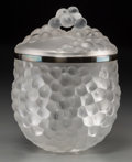 Art Glass:Lalique, A Lalique Clear and Frosted Glass Ice Bucket, post-1945. Marks:Lalique, France. 10 inches high (25.4 cm). ... (Total: 3Items)