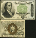 Fractional Currency:Second Issue, Fr. 1283 25¢ Second Issue Choice New;. Fr. 1379 50¢ Fourth Issue Dexter XF.. ... (Total: 2 notes)