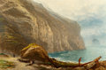 Paintings, Benjamin Williams Leader (British, 1831-1923). Tintagel, 1870. Oil on canvas. 20 x 30 inches (50.8 x 76.2 cm). Signed an...