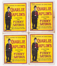 Charlie Chaplin's Chatter and Funny Sayings #52 Group of 25 (Star Book & Novelty Co., 1916) Condition: Average FR...