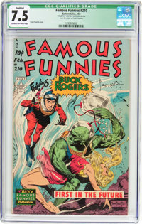 Famous Funnies #210 Frank Frazetta Copy (Eastern Color, 1954) CGC Qualified VF- 7.5 Cream to off-white pages